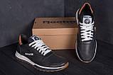 Мужские кожаные летние кроссовки, перфорация Reebok Classic black (реплика), фото 7