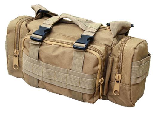 Тактическая универсальная поясная, наплечная сумочка TacticBag Кайот