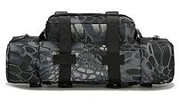 Тактическая универсальная поясная, наплечная сумочка TacticBag Черный питон, фото 3