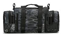 Тактическая универсальная поясная, наплечная сумочка TacticBag Черный питон, фото 4