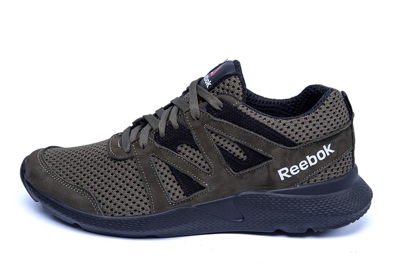 Мужские летние кроссовки сетка Reebok Classic Green  (реплика)