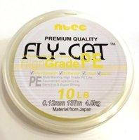 Шнур плетеный NTEC Fly-Cat Fluro Yellow 137м, 0.10мм, 2.7кг