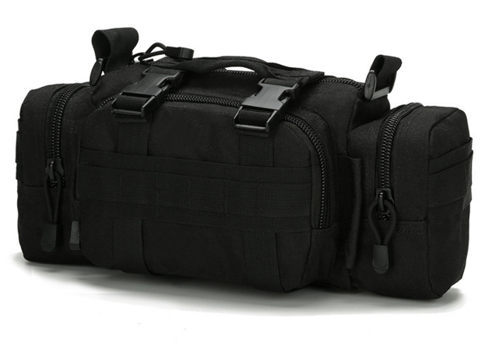 Тактическая универсальная поясная, наплечная сумочка TacticBag Черная