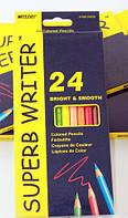 "Карандаши Цветные 24 цвета ""Superb Writer"" 4100-24  Marco"