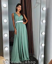 Женское шелковое платье в пол РАЗНЫЕ ЦВЕТА