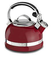 KitchenAid KTEN20SBER чайник наплитный со свистком из нержавейки 1.89л, красный