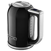Электрический чайник KitchenAid 5KEK1722EOB из нержавейки, цвет черный, фото 1