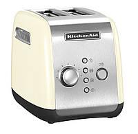 Тостер KitchenAid 5KMT221EAC на два хлебца кремового цвета