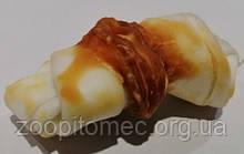 Ласощі для собак Кісточка біла з курячим м'ясом 6 см, 1шт