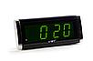 Часы настольные сетевые VST 730-2, зеленые, фото 2