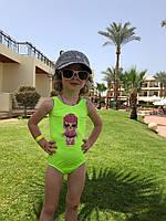 Купальник детский из бифлекса с аппликацией (К27788), фото 1