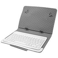 "☂Чехол-обложка Lesko 10.1"" + kayboard White с Bluetooth клавиатура на магните беспроводная чехол-клавиатура"