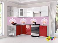 Фартук для кухни из пластика Орхидеи дизайнерские
