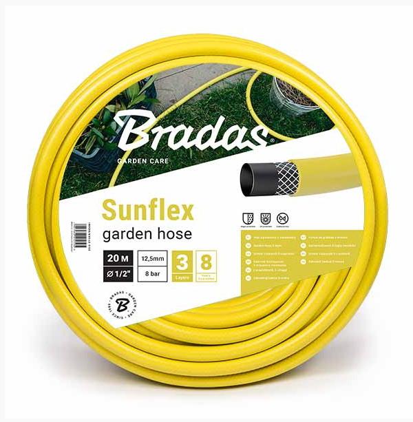 Поливочный шланг SUNFLEX  1/2- 50м Bradas