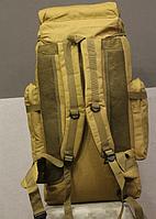 Тактический туристический городской рюкзак с системой M.O.L.L.E на 70л TacticBag Кайот, фото 2