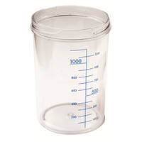 Емкость для аспиратор без крышки, 2л (материал: Markolon, автоклав: 121 °С) - RE-210353