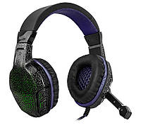 Игровые наушники с микрофоном Defender Warhead G-400 Black/Purple, игровая гарнитура