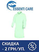 Защитный халат из нетканого материала Essenti Care (Mondo) НА КНОПКАХ зеленый 10 УП