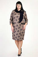 """Платье в деловом стиле декорирован платком""""Анетт"""".Разные  цвета."""