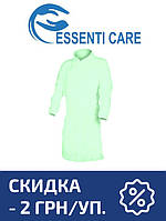 Защитный халат из нетканого материала Essenti Care (Mondo) зеленый 500 шт. 10 УП