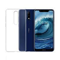 Чехол Case для Nokia 5.1 Plus силиконовый прозрачный