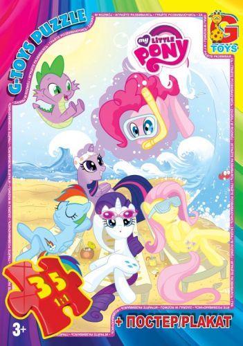 """Пазлы """"My little Pony: пляж"""",  35 эл  sco"""