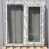 Вікно металопластикове, OPEN TECK De-Lux 60мм, з однією стулкою.