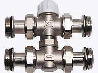 Кран термостат (большой, малый круг) 1'(25) 4-ходовый под головку