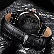 Чоловічі стильні водонепроникні годинники CUENA 6805 Black-Silver, фото 5