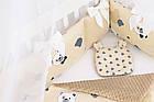 Комплект постельного белья из сатина Asik Мишки в полоску бежевого цвета (6-330), фото 4