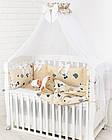 Комплект постельного белья из сатина Asik Мишки в полоску бежевого цвета (6-330), фото 5