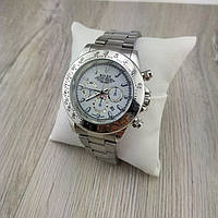 Мужские наручные копия часов Rolex cosmograph daytona silver white 05297