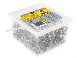 Заклепки алюмінієві 4.8 мм x 10 мм, 500 шт. 43E521