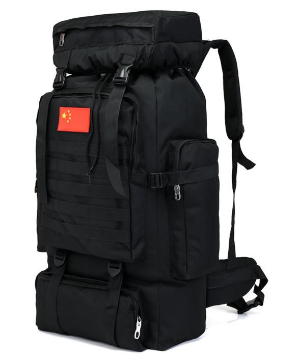 Тактический туристический городской рюкзак с системой M.O.L.L.E на 70л TacticBag Черный