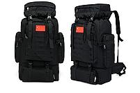 Тактический туристический городской рюкзак с системой M.O.L.L.E на 70л TacticBag Черный, фото 2