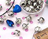 (Цена за 25шт)Бубенчики металлические бубенцы  10х8мм  Цвет -  СЕРЕБРО