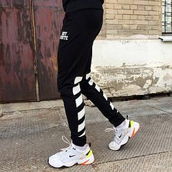 Спортивні штани в стилі Off White смуги