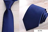 Галстук синий однотонный, Галстуки, Краватка синій однотонний