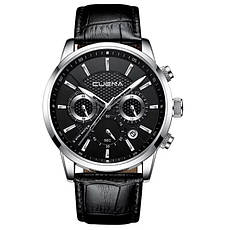 Чоловічі стильні водонепроникні годинники CUENA 6805 Black-Copper, фото 2