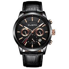 Чоловічі стильні водонепроникні годинники CUENA 6805 Black-Copper