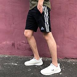 Шорти трикотажні Adidas Three line чорні