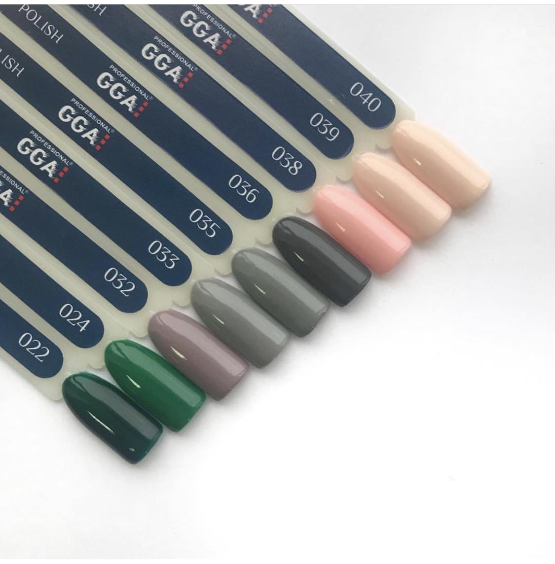 Гель-лак GGA  Professional 10 ml, разные цвета 032