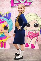 Сукня шкільне, синє, фото 1