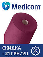 Одноразовая простынь в рулоне бордовая MEDICOM Economy 20г/м.кв 80 х 100