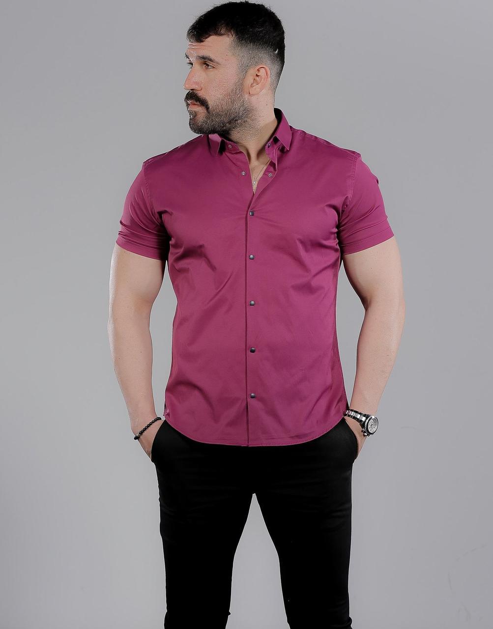 Чоловіча сорочка з коротким рукавом
