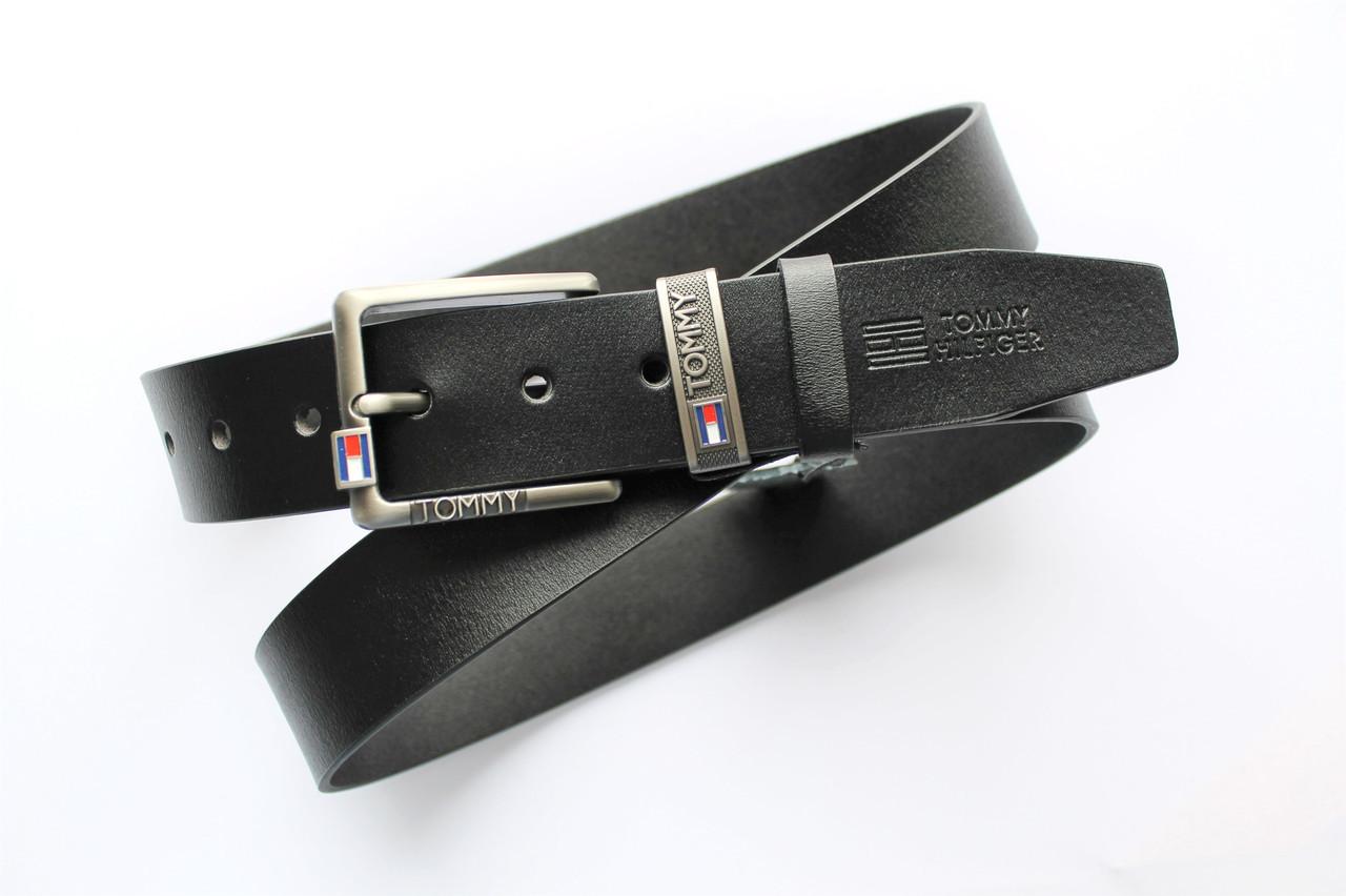 Мужской кожаный ремень Tommy Hilfiger с коробкой
