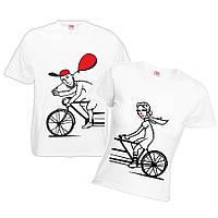 """Парная футболка """"Велосипед 2"""""""