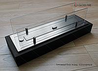 Топливный блок  Алаид Style 600-K С2 в корпусе со стеклом. Напольный камин. Биокамин в квартиру.