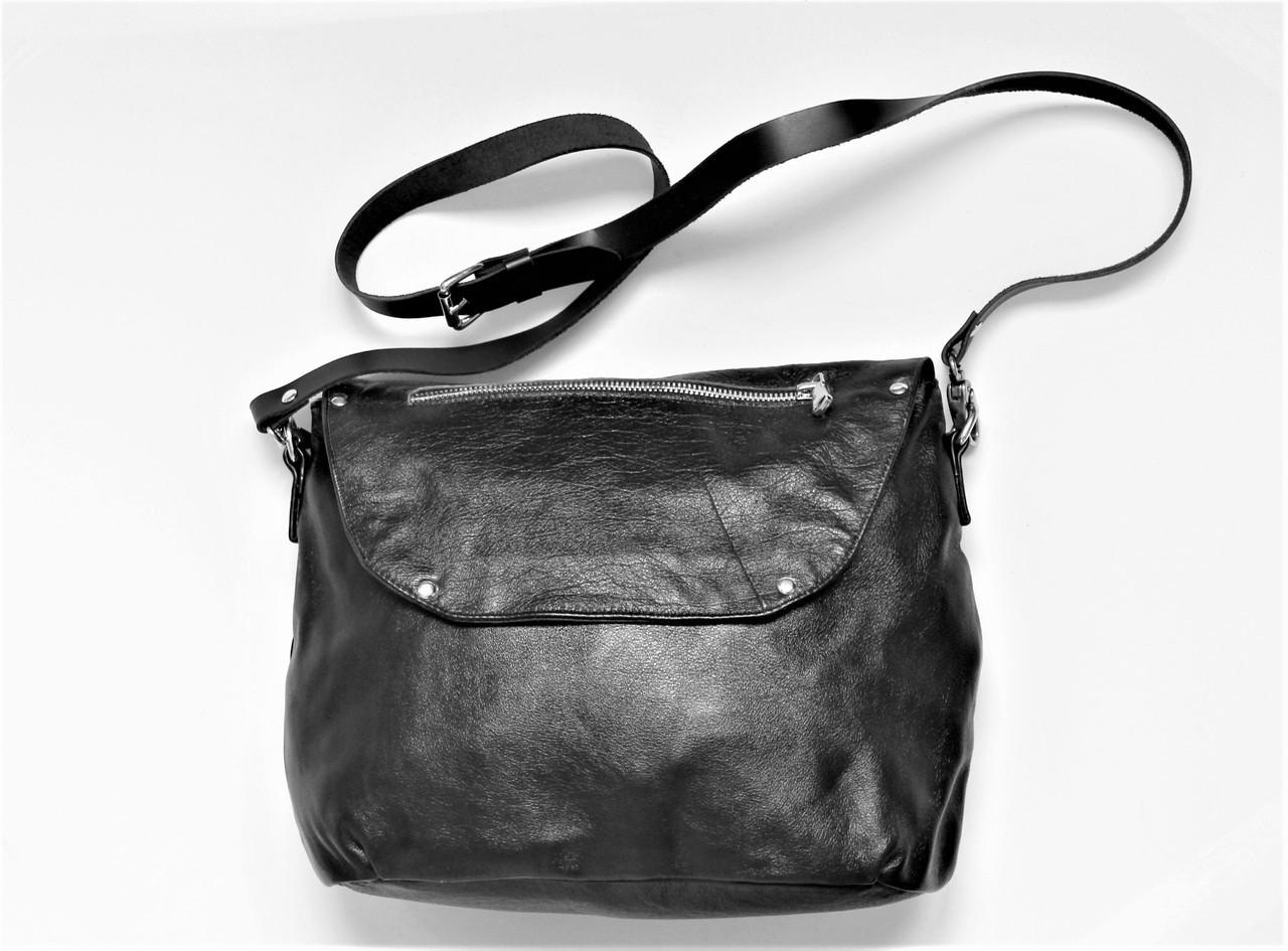 """Женская кожаная сумка """"Ripido"""" черная"""