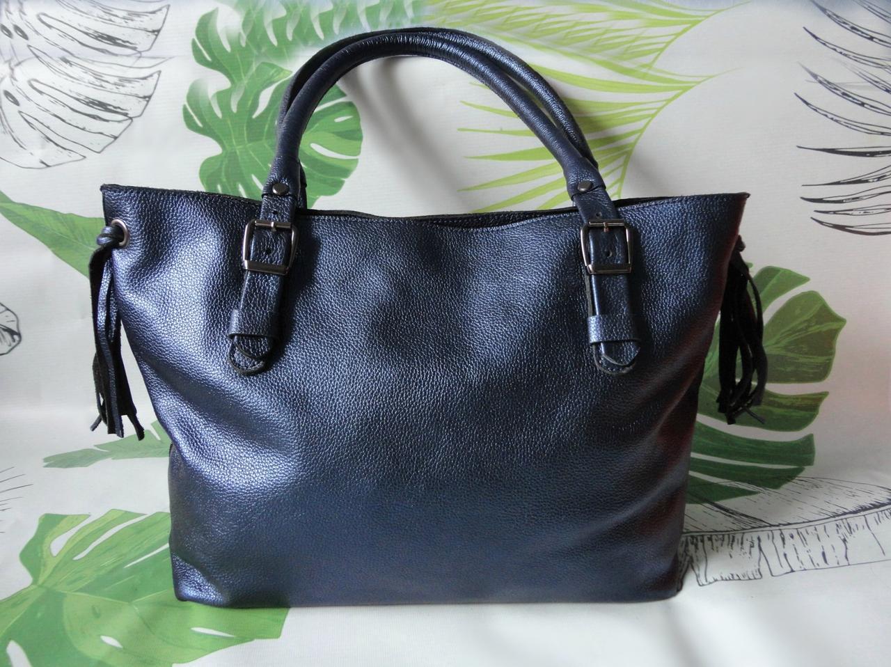 """Большая женская сумка-шоппер """"Crazy blue"""""""